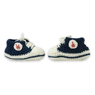Baby Basket Crochetée L.A Navy, bébé, L.A Loire Atlantique, pièce unique, fait main, La Baule, Nantes, West Coast, 44.