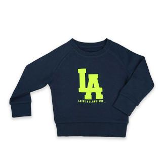 Sweat Kids Classic Navy L.A Jaune Fluo, L.A Loire Atlantique, Sweat  shirt enfants, col rond, Nantes, 44, La Baule.