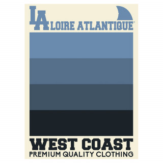 """Affiche """"Atlantic Waves"""", West Coast, L.A Loire Atlantique, La Baule, Requins, 44, Nantes. cadeaux."""
