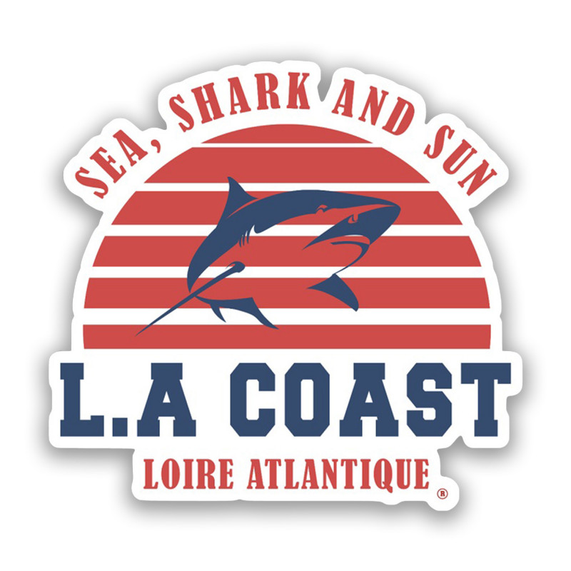 Sticker Sea Shark & Sun