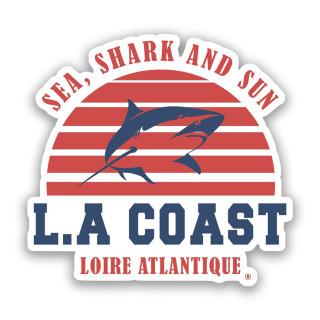 Sticker Sea Shark & Sun, L.A Loire Atlantique, Requins, Plage, West Coast, La Baule, autocollant, Nantes, 44.