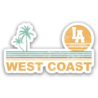Sticker West Coast Stripes, autocollant, palmiers, L.A Loire Atlantique, 44, La Baule, Nantes.