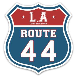 Sticker Route 44, classique, souvenirs, L.A Loire Atlantique, 44, West Coast, Nantes, cadeaux. La Baule, Autocollant.