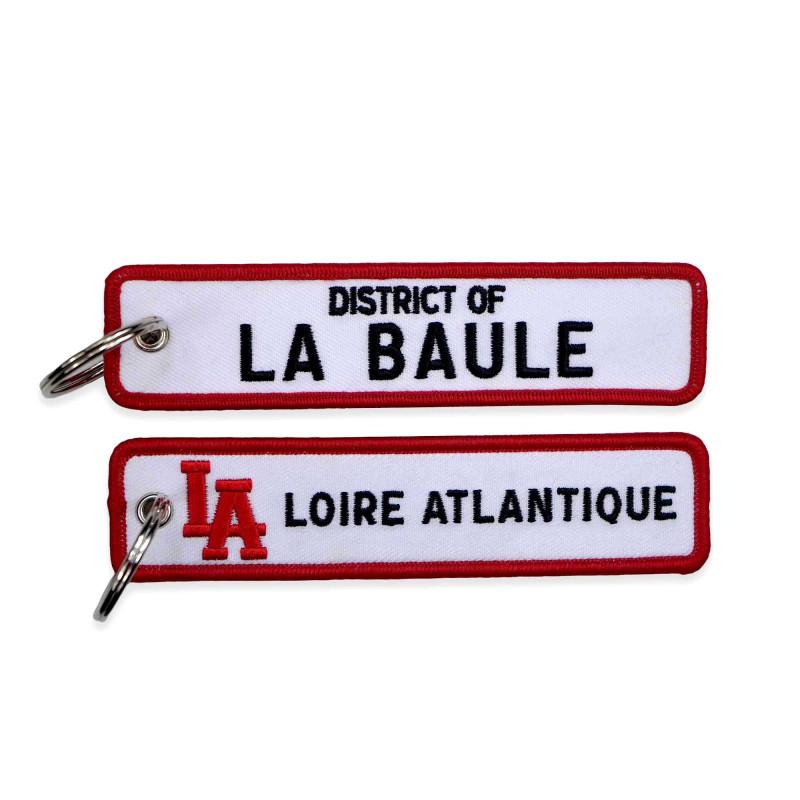 """Porte-Clés """"District of La Baule"""", L.A Loire Atlantique, La Baule, Porte Clefs, West Coast, souvenirs, 44, cadeaux."""