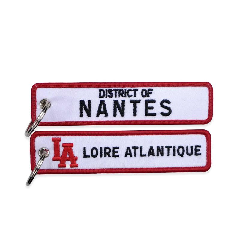 """Porte-Clés """"District of Nantes"""", 44, cadeaux, porte clefs, West Coast, L.A Loire Atlantique, souvenirs, Nantes."""