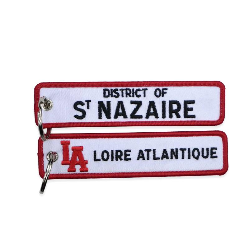 """Porte-Clés """"District of Saint Nazaire"""", L.A Loire Atlantique, cadeaux, West Coast, 44, porte clefs, souvenirs."""