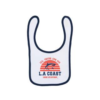 Bavoir Baby Sea Shark & Sun, L.A Loire Atlantique, Concept Store, requins, West Coast, LA Baule, 44, Nantes, bébé.