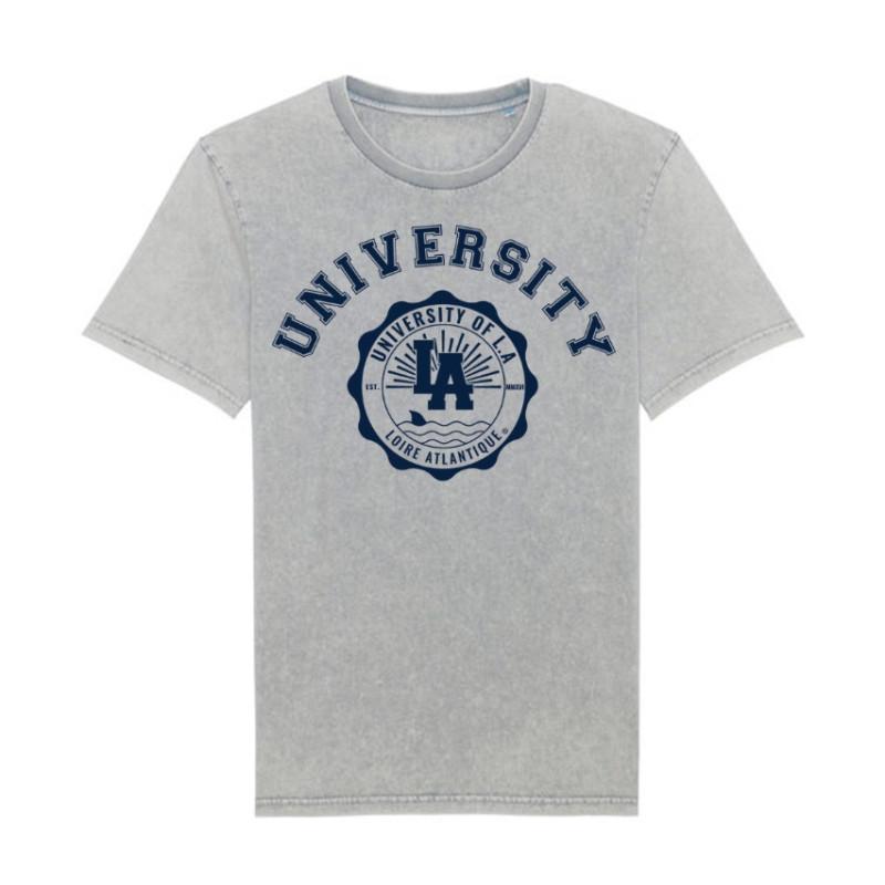 T-Shirt Vintage University, L.A Loire Atlantique, West Coast, Vintage, La Baule, Nantes, souvenirs, 44, étudiant, concept.