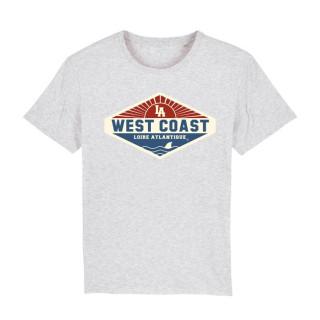 T-Shirt Classic West Coast Patch, L.A Loire Atlantique, 44, La Baule, Nantes, vintage,