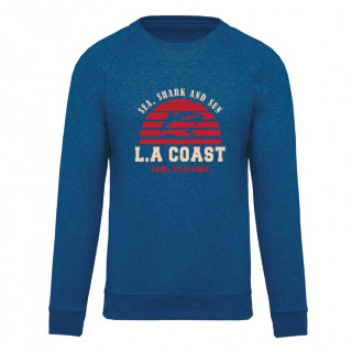 Sweat Classic Homme Sea Shark & Sun, col rond, L.A Loire Atlantique, La Baule, Nantes, West Coast, Requins, 44, plage.