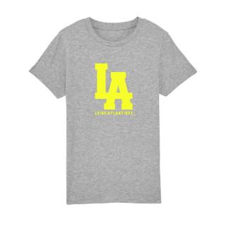 T-Shirt Classic Gris L.A Jaune Fluo, Nantes, L.A Loire Atlantique, La Baule, 44, West Coast.