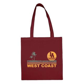 """Tote Bag Classic Burgundy """"West Coast Stripes"""", 44, Nantes, La Baule, L.A Loire Atlantique."""
