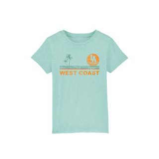 T-Shirt Classic Kids MC West Coast Stripes, Plage, enfants, La Baule, L.A Loire Atlantique, Nantes, 44, West coast, soleil.