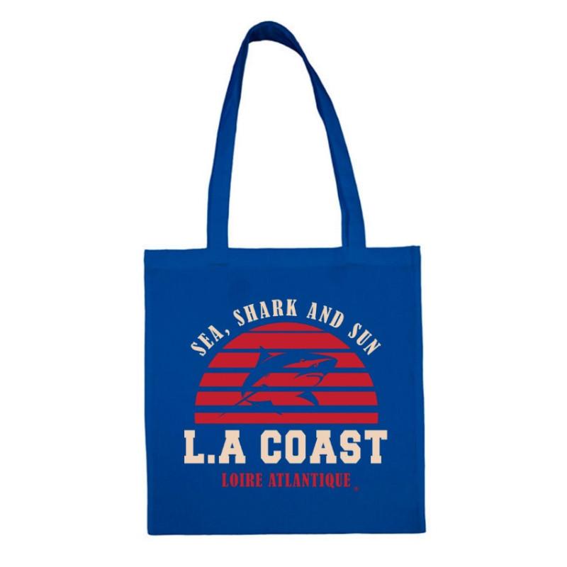 Tote-Bag Classic Royal Sea Shark & Sun, requins, plage, Sac, L.A Loire Atlantique, 44, West Coast, La Baule, Nantes.