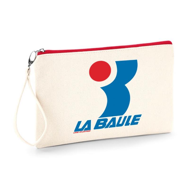 Pochette L.A Baule Vintage, Design, Souvenirs, L.A Loire Atlantique, 44, Années 80, pochette avec dragonne.