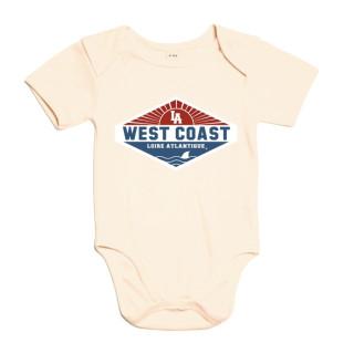 Body Baby West Coast Patch, body bébé, L.A Loire Atlantique, La Baule, Nantes, 44, design.