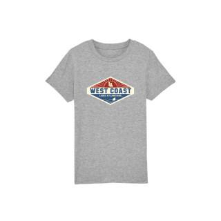 T-Shirt Classic Kids West Coast Patch, L.A Loire Atlantique, Enfants, Nantes, La Baule, 44, West Coast.