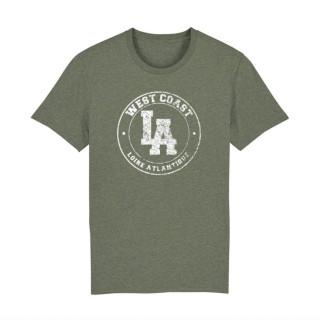 T-Shirt Khaki Vintage West Coast Blanc Classic, L.A Loire Atlantique, La Baule, Nantes, 44.