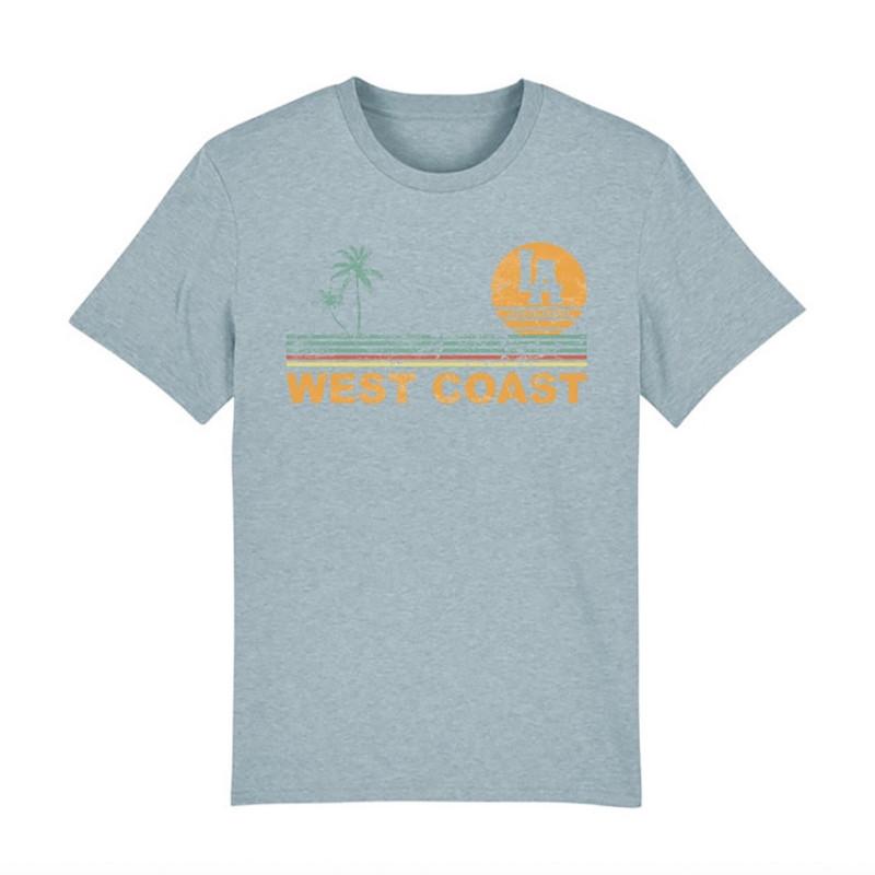 T-Shirt Classic-IceBlue-West Coast Stripes-L.A Loire Atlantique-design-La Baule-Nantes