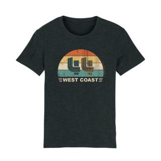 T-Shirt-Look vintage-44 West Coast- Classic- L.A Loire atlantique