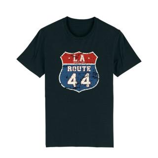 T-Shirt Classic Black Route 44, L.A Loire Atlantique, Classique, souvenirs, West Coast, La Baule, Nantes, Mythique.