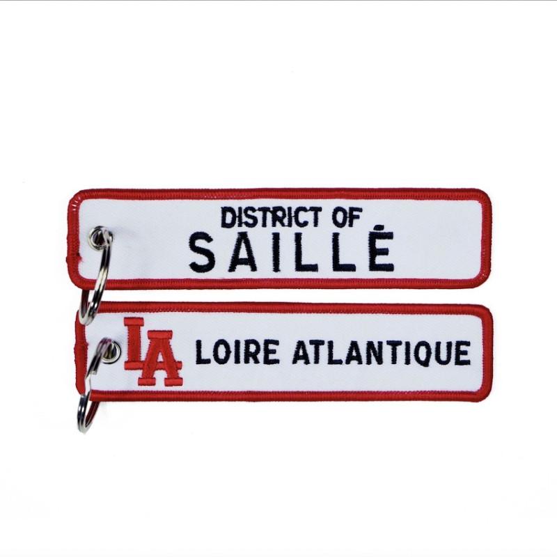 """Porte-Clés """"District of Saillé"""", souvenirs, Cadeaux, L.A Loire Atlantique, Porte clefs, 44, West Coast."""
