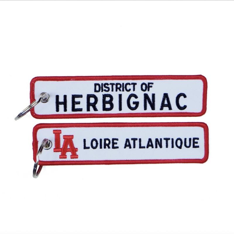 """Porte-Clés """"District of Herbignac"""", L.A Loire Atlantique, Cadeaux, porte clefs, souvenirs, 44. West Coast."""