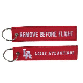 """Porte-Clés """"Remove Before Flight"""", L.A Loire Atlantique, souvenirs, porte clefs, La Baule, 44, Nantes."""