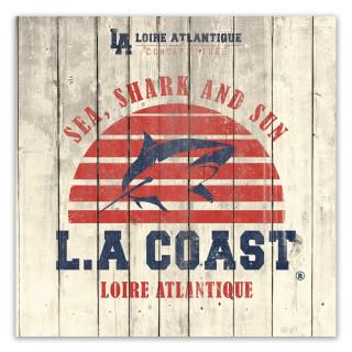Plaque Déco Sea Shark & Sun, La Baule, 44, souvenirs, déco intérieur, L.A Loire Atlantique, Nantes, Requins, plage, soleil.