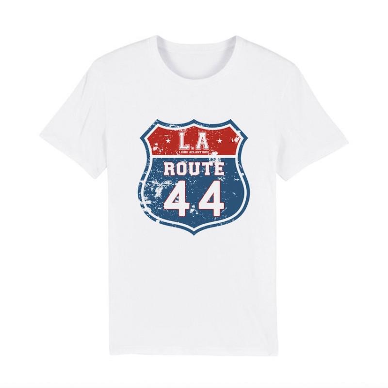 T-Shirt Classic White Route 44, mythique, LA Loire Atlantique, La Baule, Nantes, Concept Store, West Coast.
