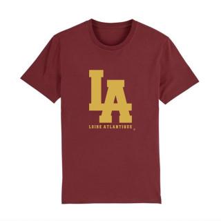 LA Classic-Burgundy-L.A Yellow-T-Shirt-LA loire Atlantique-44-La Baule-Nantes