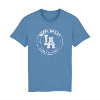 T-Shirt Classic Bleu Vintage West Coast Blanc, L.A Loire Atlantique, Concept Store, Nantes, La Baule, 44.