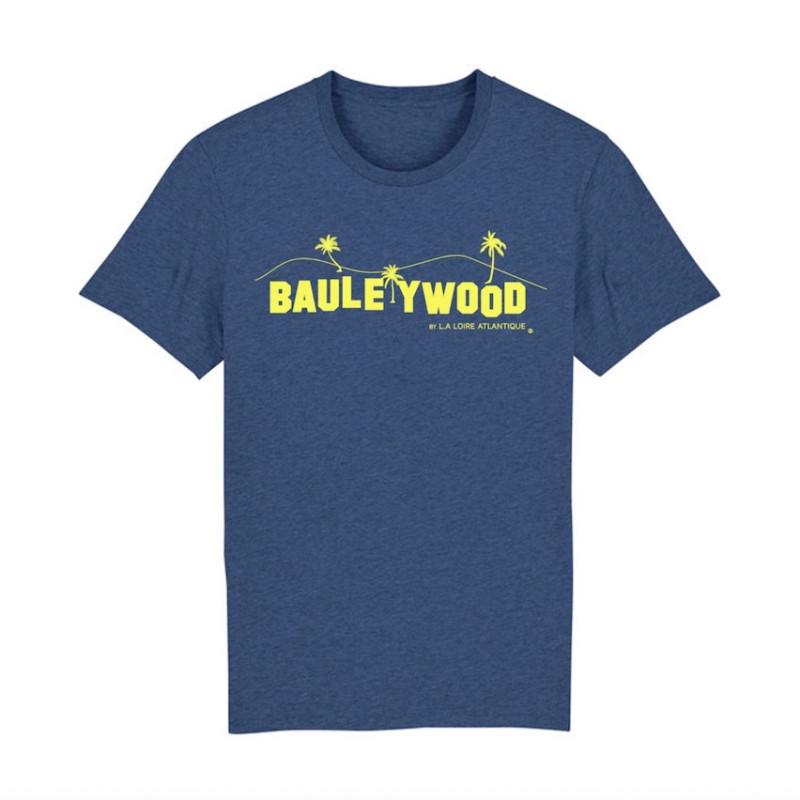 T-Shirt Classic-IndigoBlue BauleYWood Yellow-La Baule-44-L.A Loire atlantique-